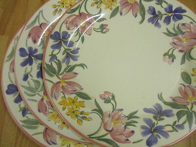 Staffordshire Tableware CHELSEA Dinner plates x 3