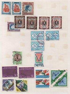 LIBYA: Selection of Used Examples - Ex-Old Time Collection - Album Page (4844)