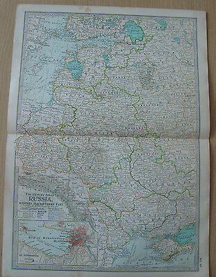 Map 1903 Russia Western & Southern Part Century Atlas