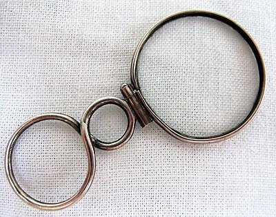 ANTIQUE GEORGIAN SILVER MAGNIFYING QUIZZING GLASS c1800