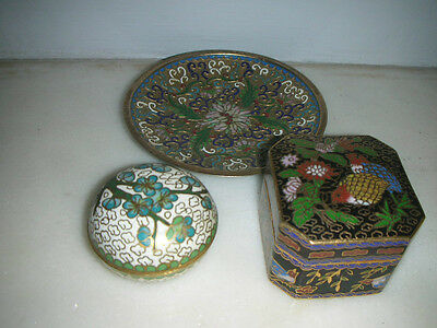 Collection Of Vintage Japanese Cloisonne Items