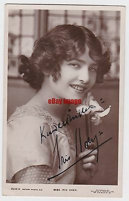 Stage actress Iris Hoey in costume. Signed postcard