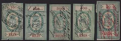 MOZAMBIQUE: Collection of Used Revenue Examples - 10 Reis-400 Reis (6283)