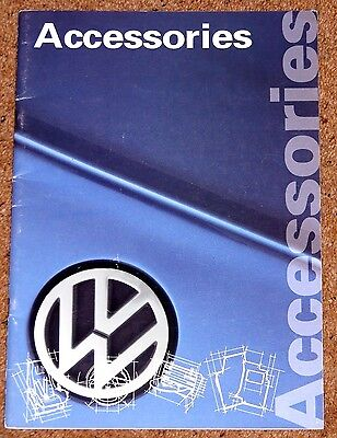 VW ACCESSORIES Brochure c1993-98  Alloys Styling Audio Sports Suspension etc