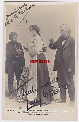 Stage actor Alec Thompson and Lucy Wilson in Bonnie Briar Bush. Signed postcard