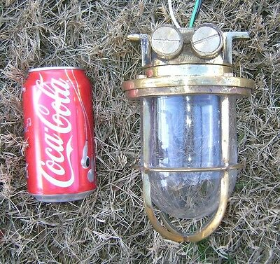 Small Vintage Cast Brass Passageway Light - Polished And Ready To Install