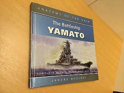 BATTLESHIP YAMATO, ANATOMY OF THE SHIP BOOK, please see photos for detail