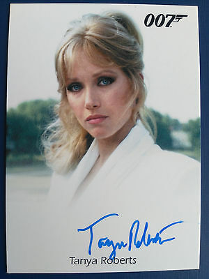 James Bond Archives 2015 Autograph Card Tanya Roberts as Stacey Sutton