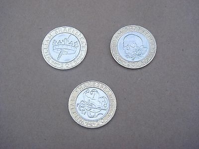 3 Shakespeare £2 Coins