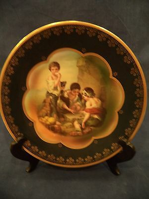 WITTELSBACH Murillo Cabinet Plate in Green Classical Royal Vienna Germany