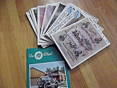 """Turning Wheels Magazines, 12 mags., entire 1977 year, + """"The Wheel"""" supplement"""