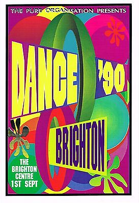 DANCE 1990 Rave Flyer Flyers A5 1/9/90 A5 The Brighton Centre