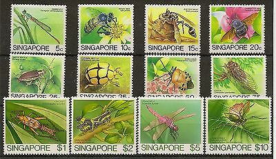 Singapore 1985 Qeii Insects Definitives To $10 Nhm (12)
