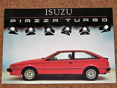 ISUZU PIAZZA TURBO Sales Brochure c1985-86 UK Market