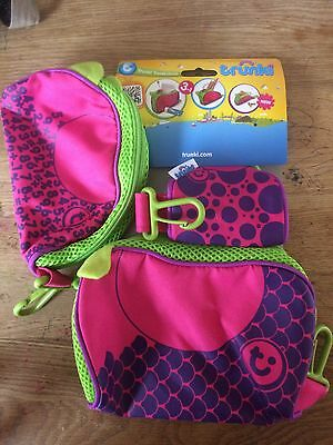 Trunki Travel Chums Wash Bag, Pencil Case and Purse Pink