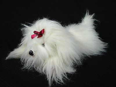 "Yomiko Classics Russ White Maltese Stuffed Plush Dog Puppy 17"" Realistic"