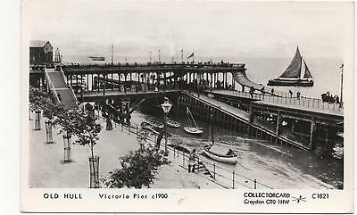 OLD HULL VICTORIA PIER c1900 COLLECTORCARD YORKSHIRE