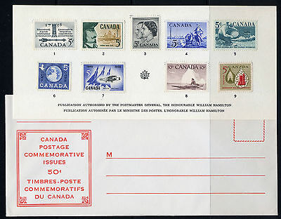 Weeda Canada VF 1959 Annual Souvenir Card #1 in original envelope CV $30