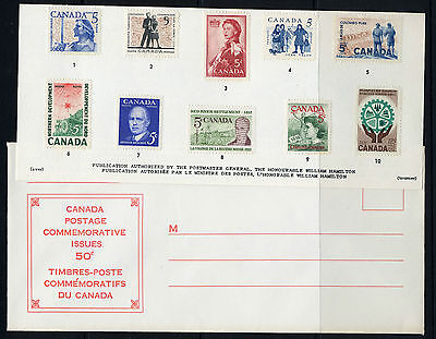 Weeda Canada VF 1962 Annual Souvenir Card #4 in original envelope CV $10