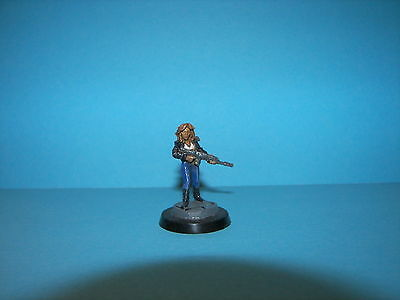 Ral Partha Female Girl Painted Mounted Figure Biker Babe Armed Model Lady 30Mm