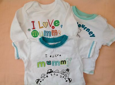 BABY'S T SHIRTS - SIZE 3-6 MTHS - 100% COTTON -VESTS 6 - 9mths GEORGE,
