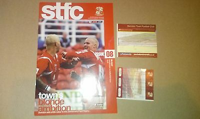 Swindon Town V Cheltenham Town Football Programme With Match Day Tickets Jpt 07