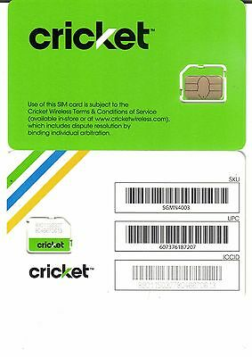 Cricket 4G LTE Micro Sim Card FREE SHIPPING