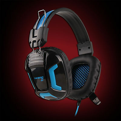 3.5mm Stereo Headset Headphones w/ Mic for PC Laptop Gaming CS Dota Game From UK