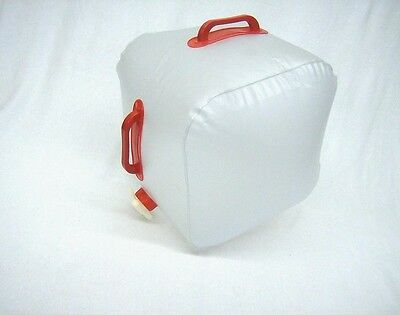 Collapsible compact polyethylene double handle 5 gallon water storage carrier
