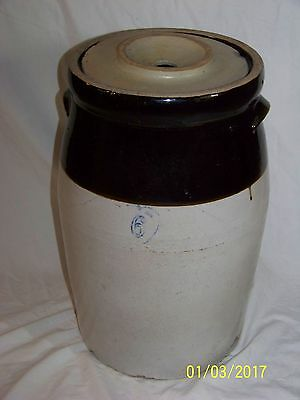 vintage 6 gallon butter churn with lid