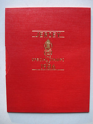 GB:Channel Island JERSEY 1986 Commemorative Year Book complete MNH - TOP!