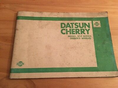 Datsun Cherry Owners Manual