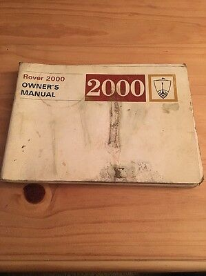 Rover 2000 Owners Manual