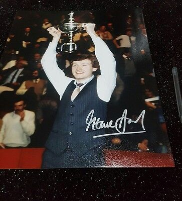 Hans Signed Steve Davis Snooker Photo A3 Size