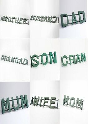 name Funeral Tributes Foam Letters Family Relative Frames & Stand choice of 33