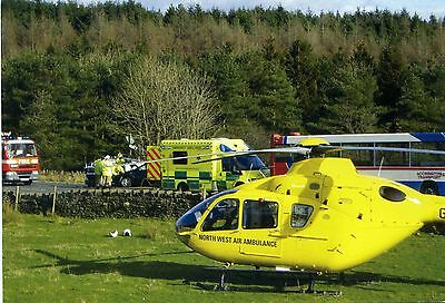 North West Air Ambulance - Eurocopter Ec135 Helicopter - Official Postcard View