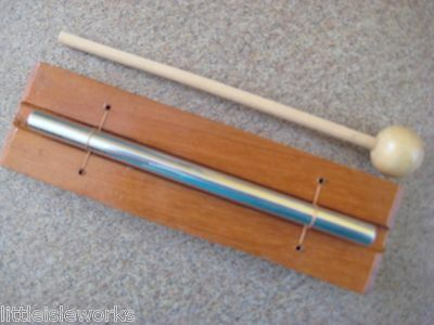 """CHIME (ENERGY) (Med) 7.5 x 2"""" WOOD, Single Key with Striker, Handcrafted, Bali"""