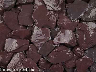 Quality Garden  PLUM Slate Chippings Bulk Bag NOW ONLY  £78.99 We Deliver Local