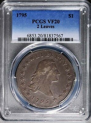 1795 Flowing Hair Dollar PCGS VF-20 2 Leaves Variety