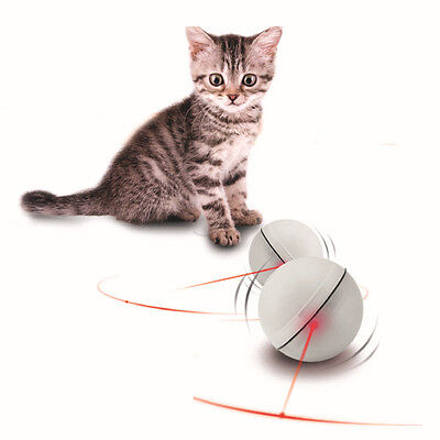 Pet Cat Dog LED Laser Ball Interactive Toy Automatic Red Pointer Light Exercise