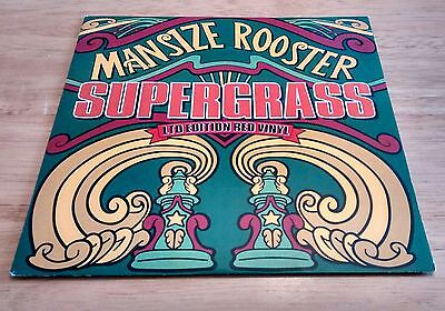 """Supergrass - Mansize Rooster.  Limited edition red vinyl.  7"""".  1995.  Gaz Coomb"""