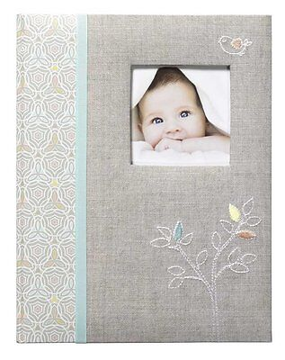 CR Gibson Baby's First Memory Book / Journal (Linen Tree)