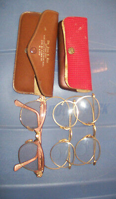 LOT of VINTAGE Men's Wire Rim Glasses and Women's Pair - 1930's - 1940's