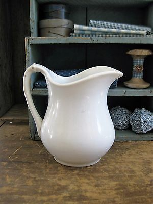 Small Antique White Ironstone Pitcher