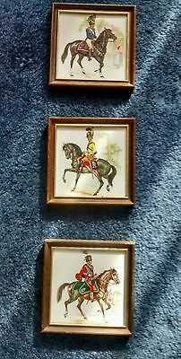 Mounted Soldiers painted on tiles