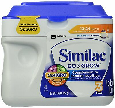 Similac Go & Grow Stage 3 Milk Based Toddler Drink with Iron 22 oz (Pack of 3)