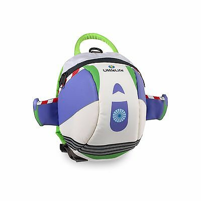 New LittleLife Toddler Disney Buzz Children Backpack School Bag and Safety Reins