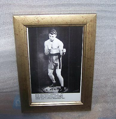 Boxing Photograph Signed By Len Harvey