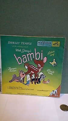 1949 Bambi RCA Victor 45  Shirley Temple Walt Disney booklet sleeve only