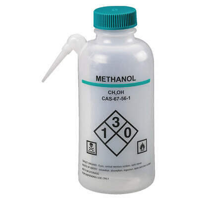 LAB SAFETY SUPPLY Wash Bottle,500mL,Integrated Spout,PK4, 24J884